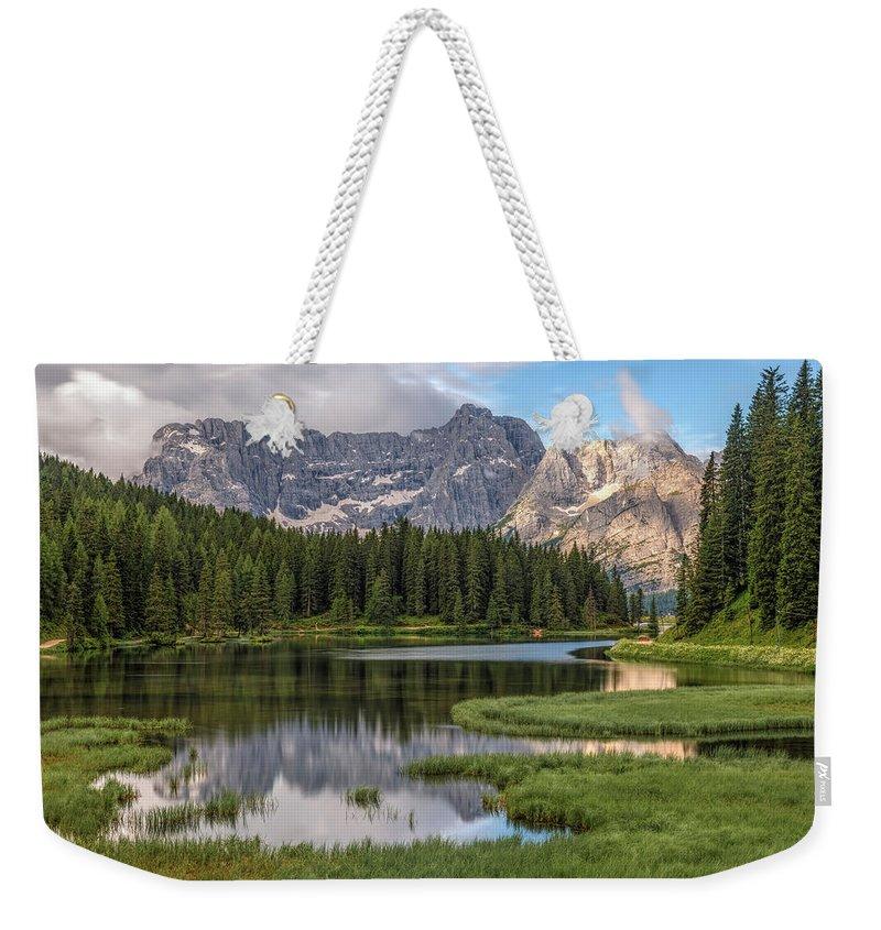 Lake Misurina Weekender Tote Bag featuring the photograph Lago Di Misurina - Italy by Joana Kruse