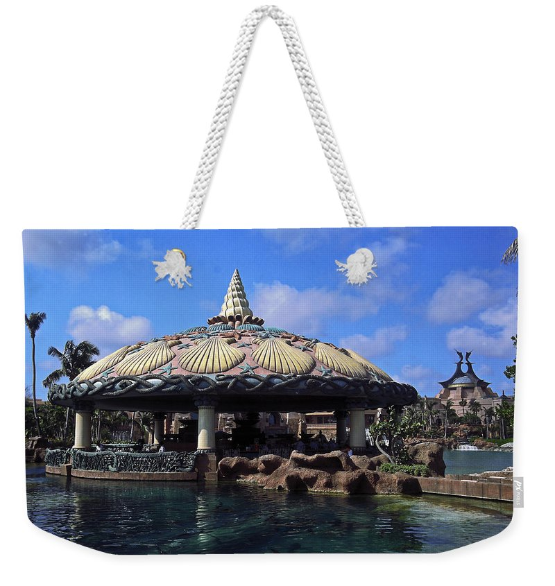 Lagoon Bar & Grill Weekender Tote Bag featuring the photograph Lagoon Bar And Grill by Sally Weigand
