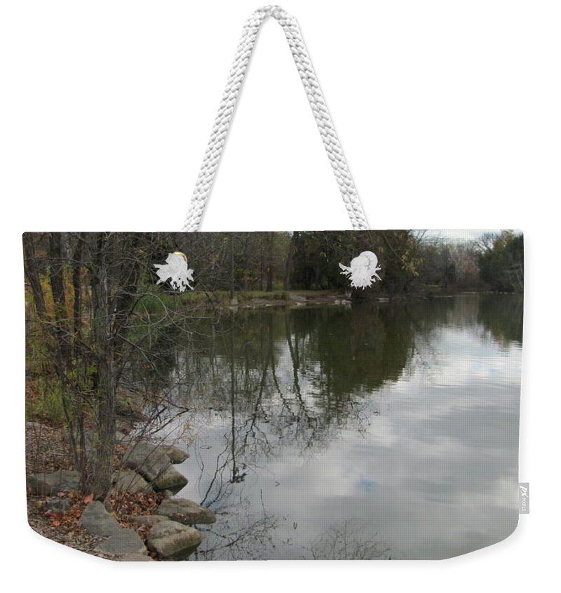 Lagoon Weekender Tote Bag featuring the photograph Lagoon Reflections 3 by Anita Burgermeister