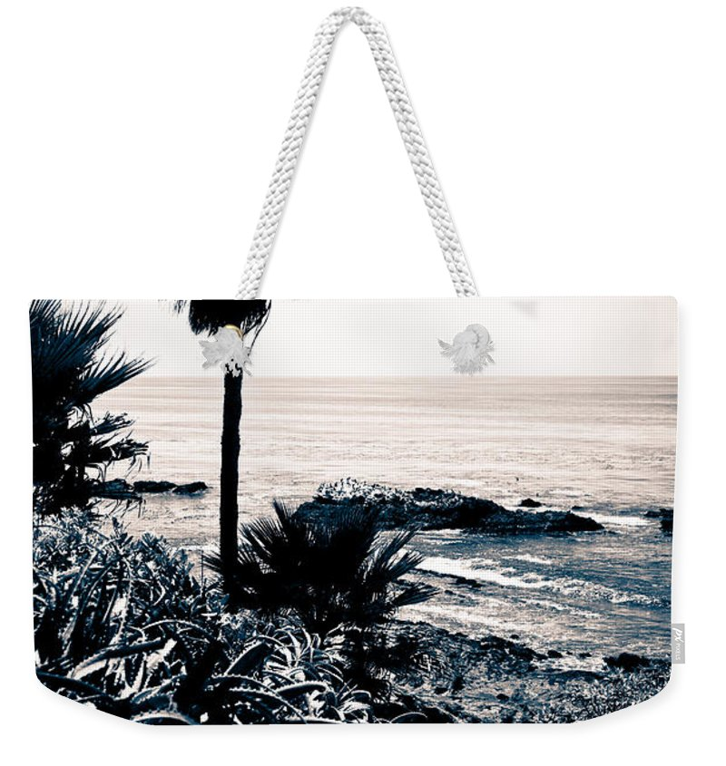 America Weekender Tote Bag featuring the photograph Laguna Beach California Black And White by Paul Velgos