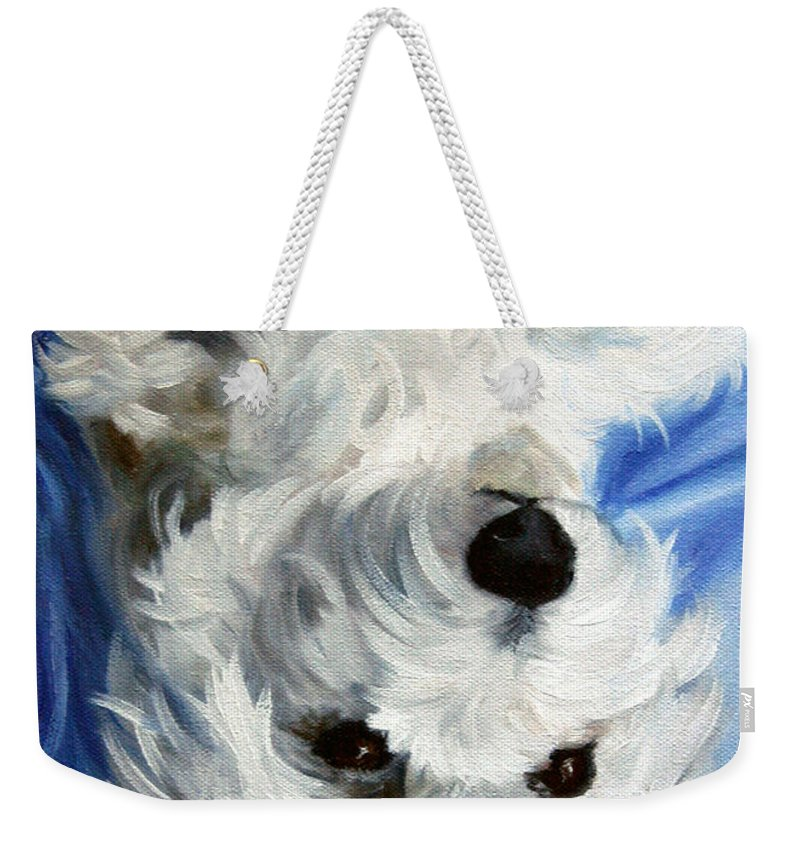 Art Weekender Tote Bag featuring the painting Laid Back II by Mary Sparrow