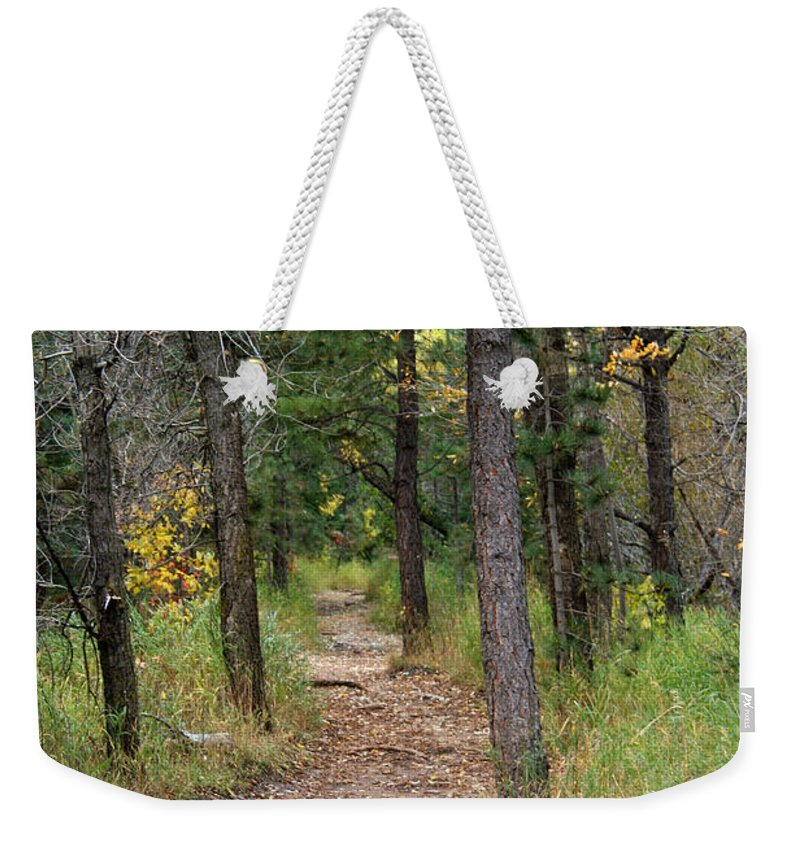 Trail Weekender Tote Bag featuring the photograph Lair O The Bear by Ben Zell