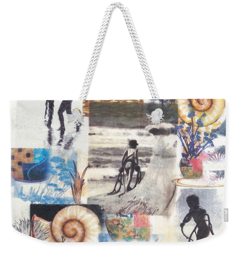 Abstract Weekender Tote Bag featuring the painting Lajolla by Valerie Meotti