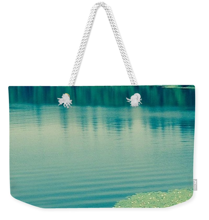 Lake Weekender Tote Bag featuring the photograph Lake by Andrew Redford