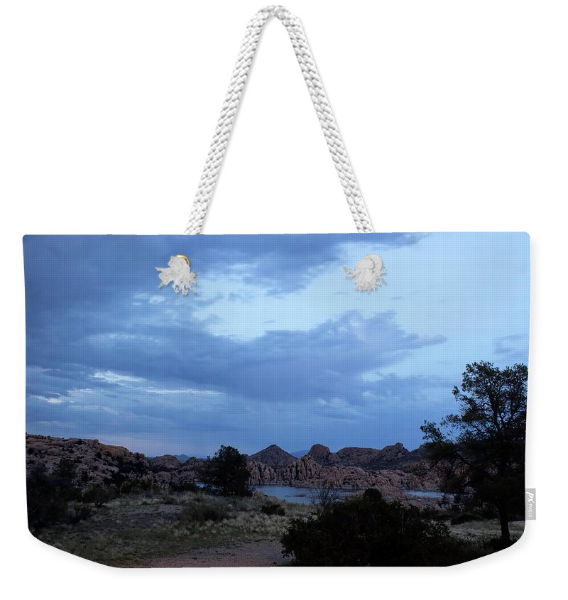Lake Weekender Tote Bag featuring the photograph Lake Before A Storm by Marcy Burgis