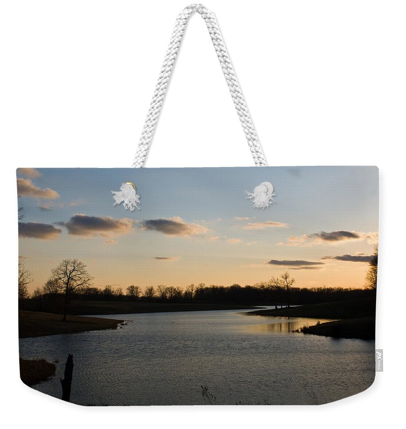 Lake Weekender Tote Bag featuring the photograph Lake Cumberland County Tennessee by Douglas Barnett