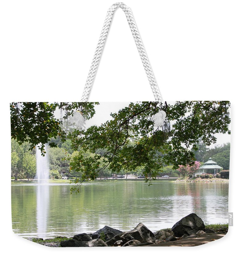 Lake Weekender Tote Bag featuring the photograph Lake Ella, Tallahassee by Laura Martin