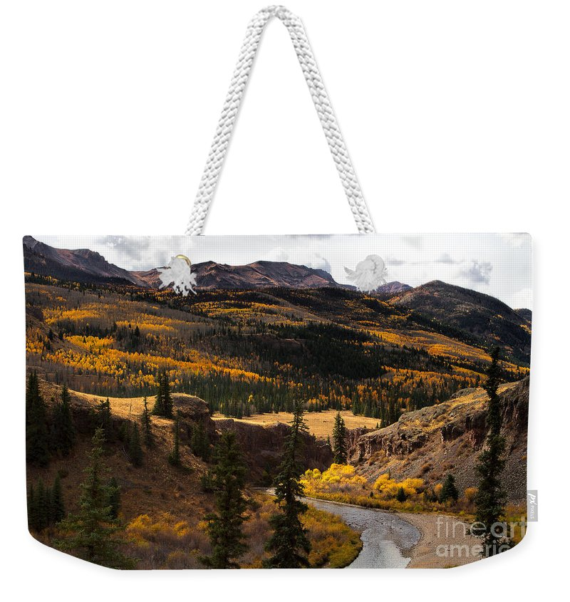 Autumn Colors Weekender Tote Bag featuring the photograph Lake Fork Of The Gunnison by Jim Garrison