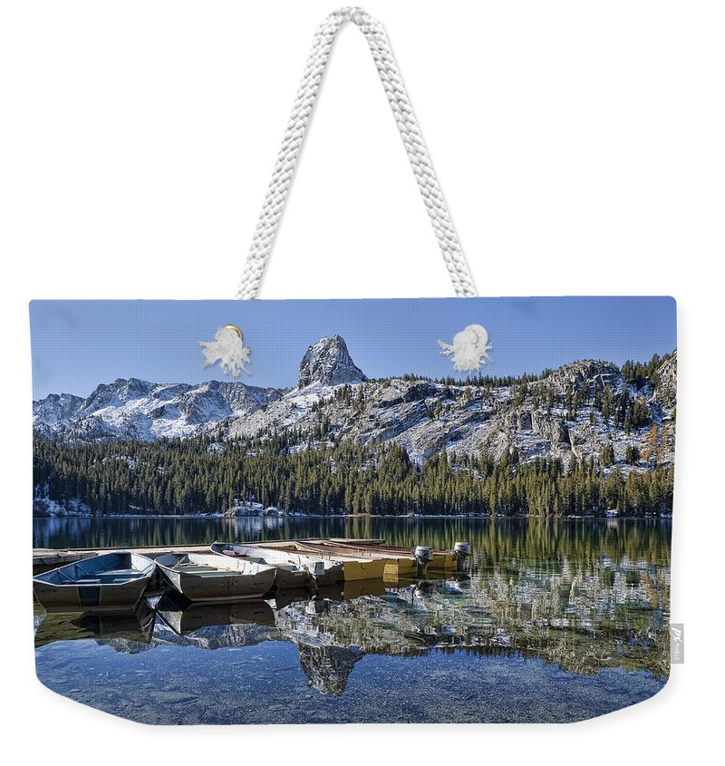 Water Weekender Tote Bag featuring the photograph Lake George by Kelley King