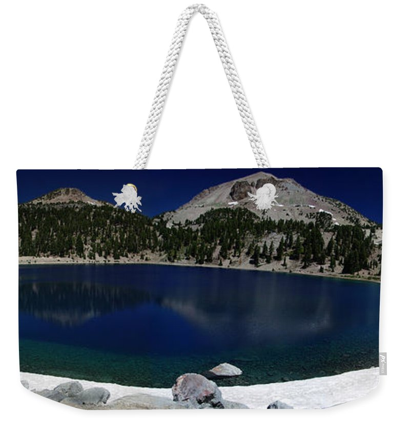 Mirror Weekender Tote Bag featuring the photograph Lake Helen Lassen by Peter Piatt