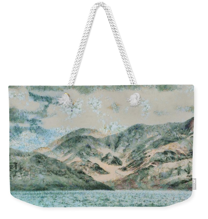 Lake Weekender Tote Bag featuring the photograph Lake In The Mountains by Ashish Agarwal