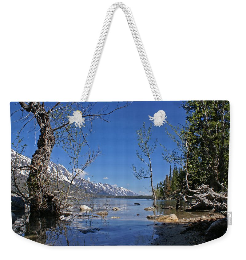 Lake Jenny Weekender Tote Bag featuring the photograph Lake Jenny by Heather Coen
