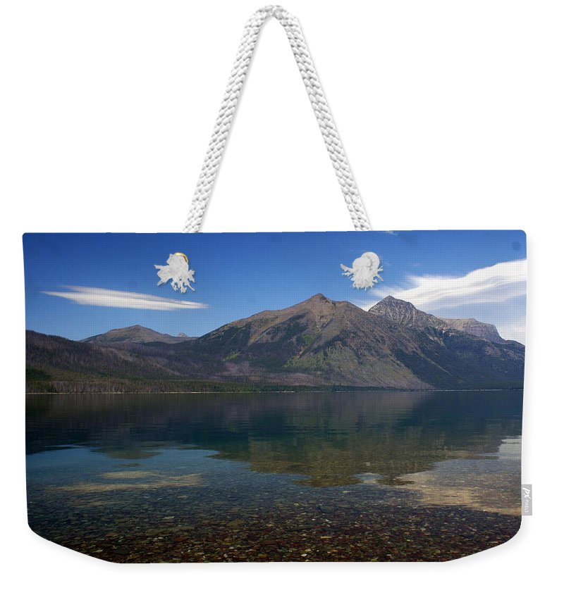 Landscape Weekender Tote Bag featuring the photograph Lake Mcdonald Reflection Glacier National Park 2 by Marty Koch