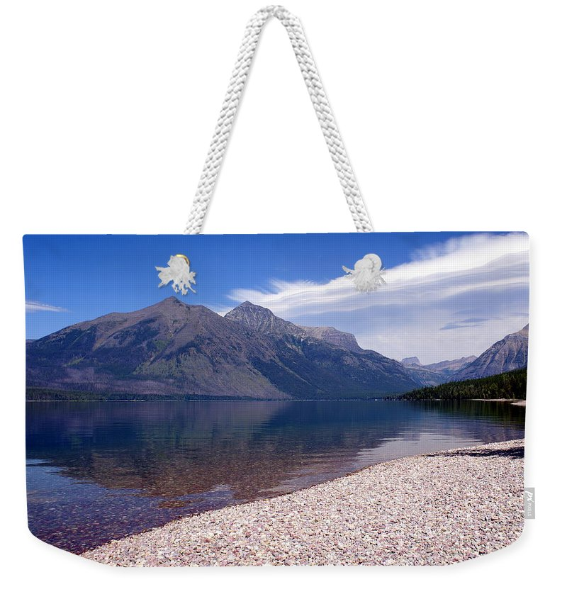Glacier National Park Weekender Tote Bag featuring the photograph Lake Mcdonald Reflection Glacier National Park 4 by Marty Koch