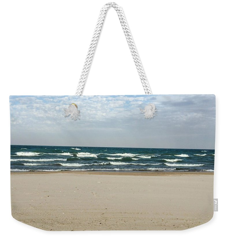 Lake Michigan Weekender Tote Bag featuring the photograph Lake Michigan 10.20.15 by Jennifer Kohler