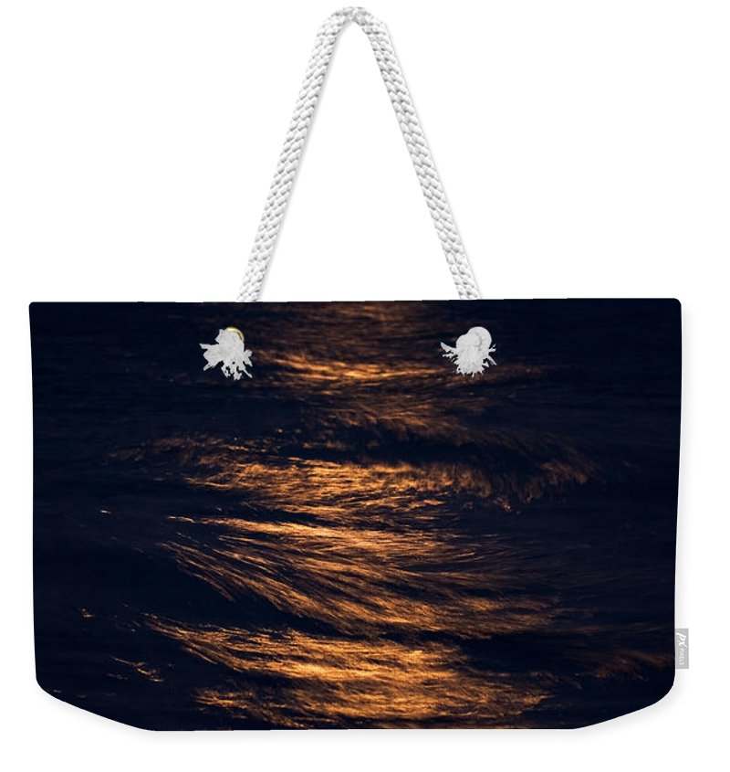 Chicago Weekender Tote Bag featuring the photograph Lake Michigan Moonrise by Steve Gadomski