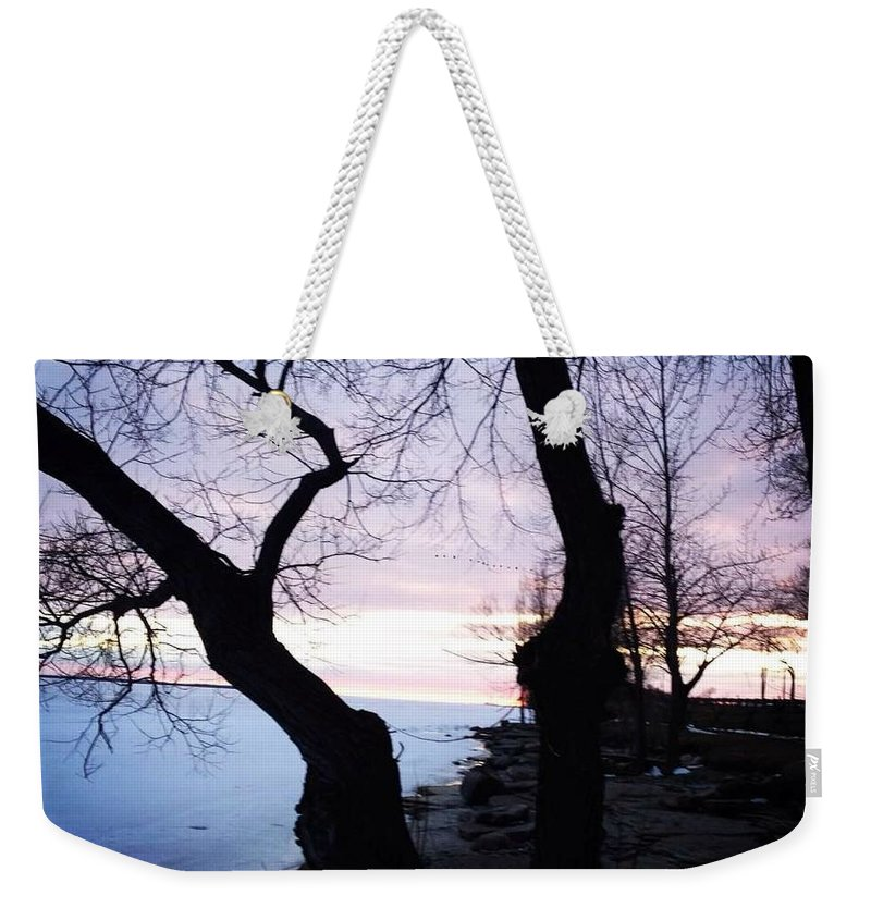 Lake Ontario Weekender Tote Bag featuring the photograph Lake Ontario In March by Chris Dippel