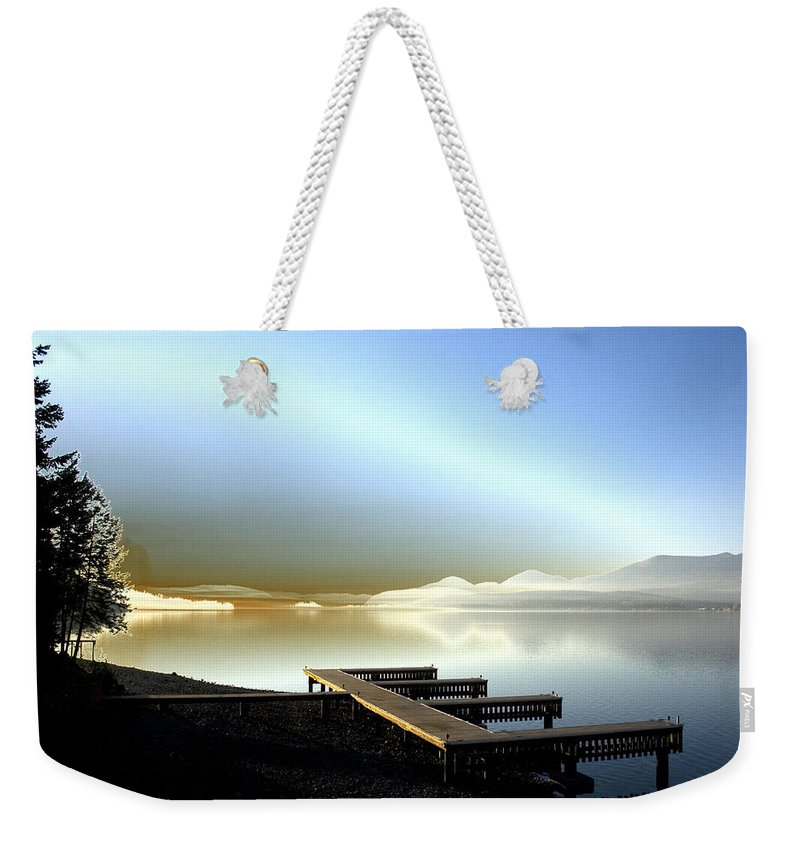 Landscape Weekender Tote Bag featuring the photograph Lake Pend D'oreille Fantasy by Lee Santa