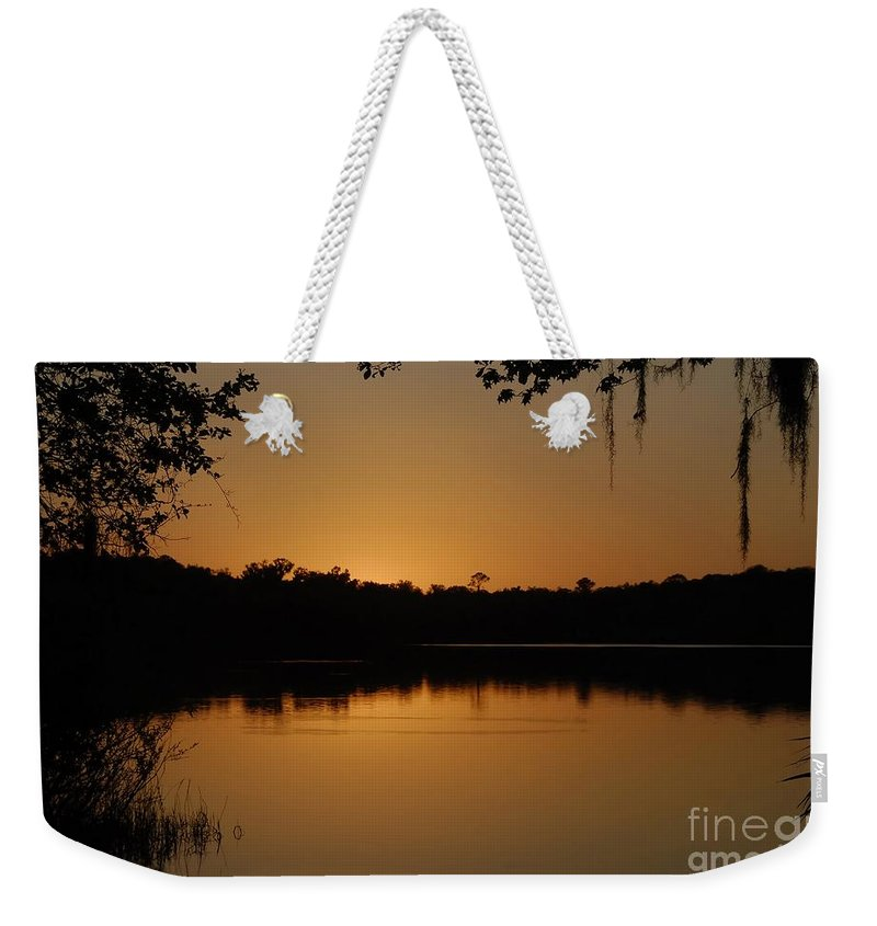 Lake Weekender Tote Bag featuring the photograph Lake Reflections by David Lee Thompson