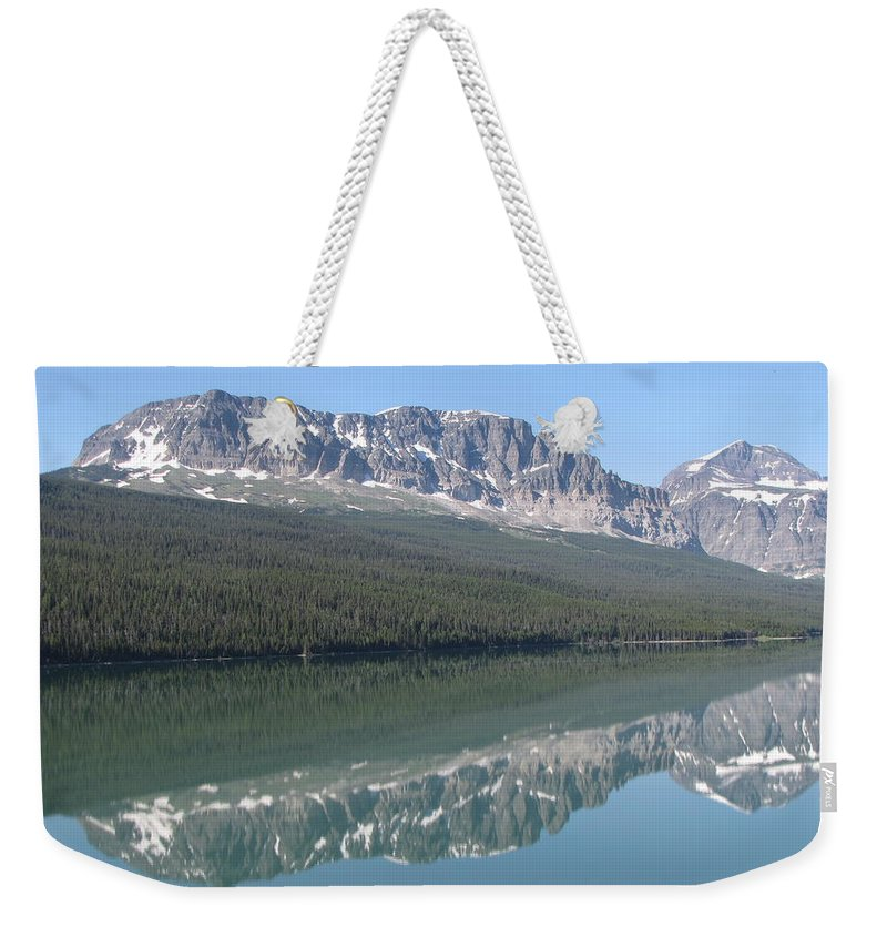 Glacier Weekender Tote Bag featuring the photograph Lake Sherbourne by Tammy Crawford