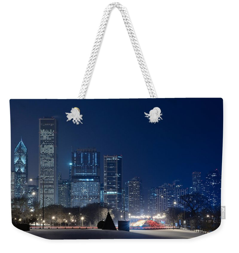 Building Weekender Tote Bag featuring the photograph Lake Shore Drive Chicago by Steve Gadomski