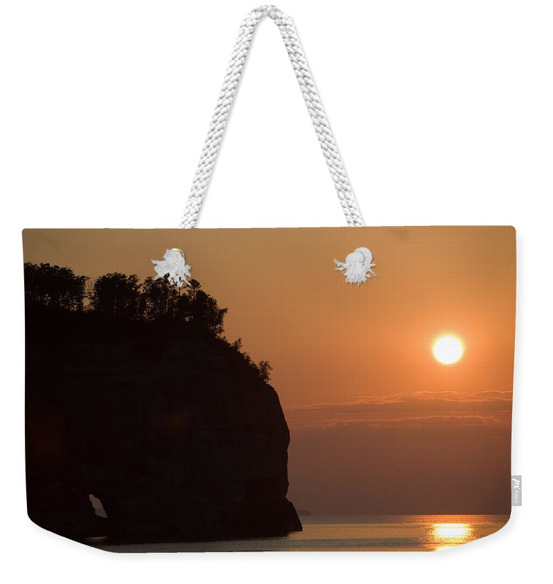 Lake Weekender Tote Bag featuring the photograph Lake Superior Sunset by Sebastian Musial