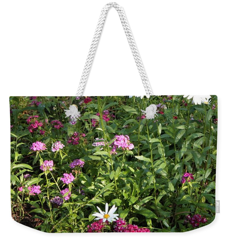 Flowers Weekender Tote Bag featuring the photograph Lake Tahoe Beauties by Carol Groenen