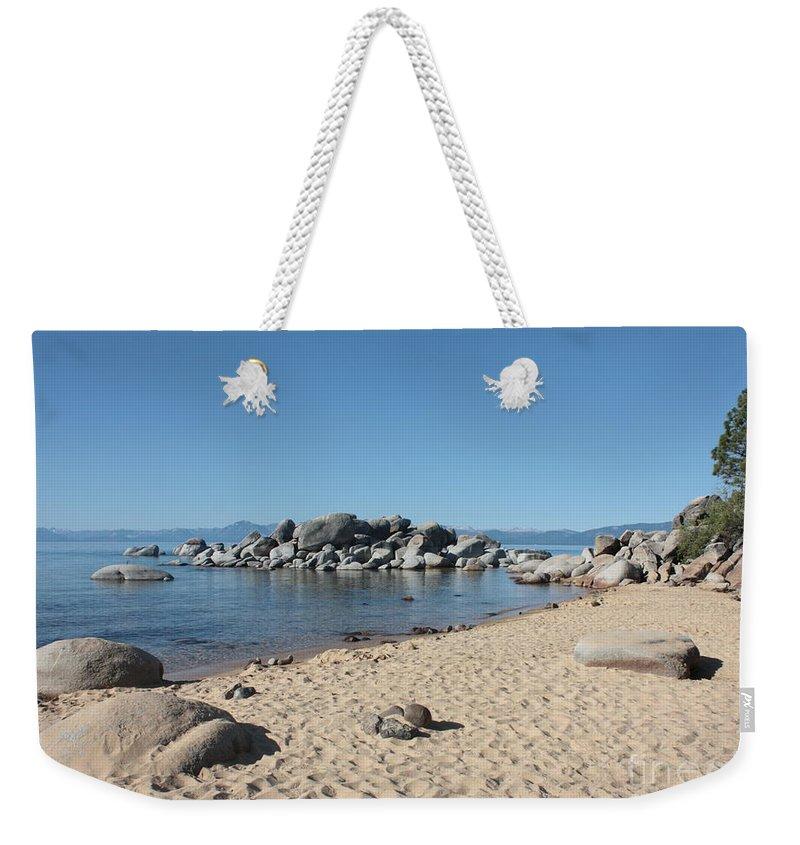 Lake Tahoe Weekender Tote Bag featuring the photograph Lake Tahoe Morning by Carol Groenen