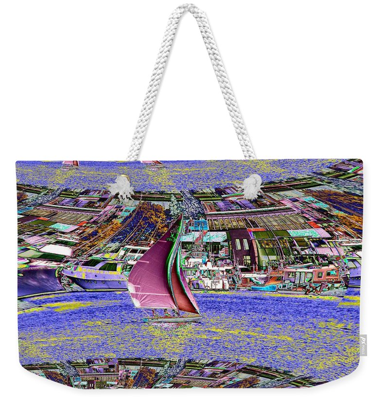 Seattle Weekender Tote Bag featuring the photograph Lake Union Sail by Tim Allen