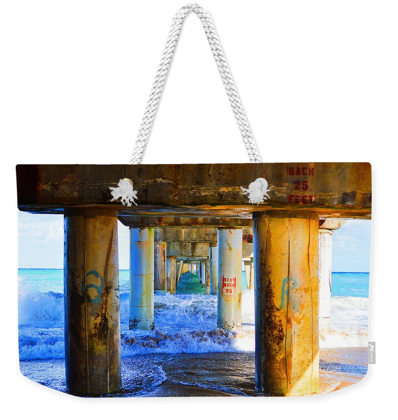 Lake Worth Weekender Tote Bag featuring the photograph Lake Worth, Florida Pier by Paul Cook