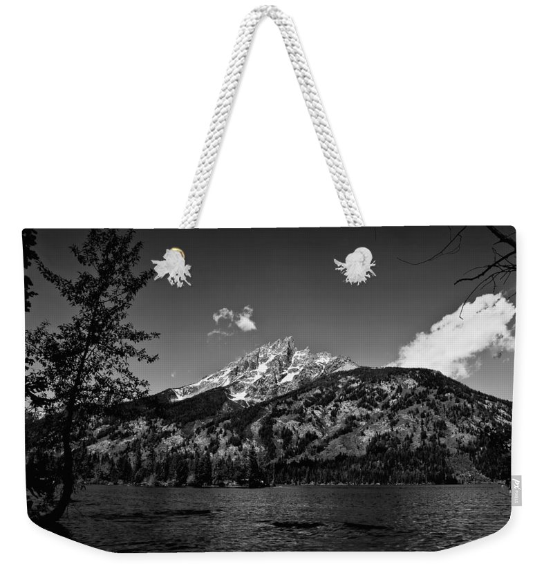 Black And White Weekender Tote Bag featuring the photograph Lakeside by John K Sampson
