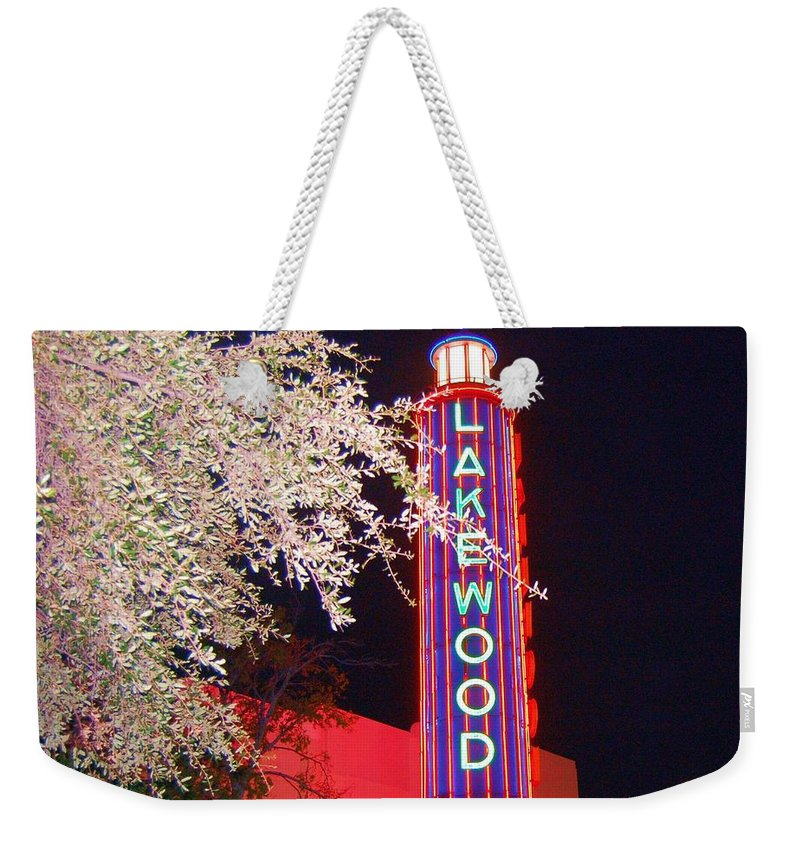 Theater Weekender Tote Bag featuring the photograph Lakewood Theater by Debbi Granruth