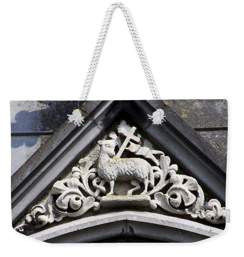 Ireland Weekender Tote Bag featuring the photograph Lamb of God by Teresa Mucha