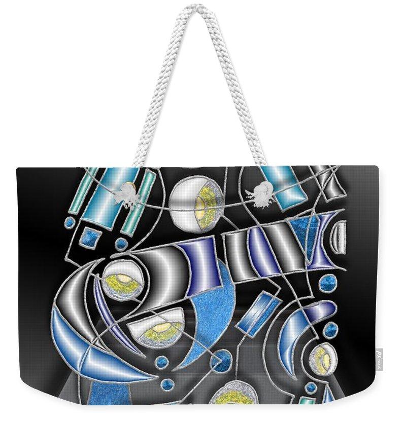 Gray Weekender Tote Bag featuring the digital art Lamp Arrangement 3 by Mark Sellers
