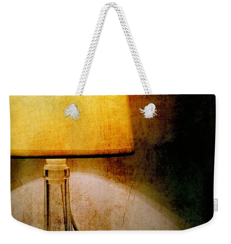 Ambience Weekender Tote Bag featuring the photograph Lamp by Silvia Ganora