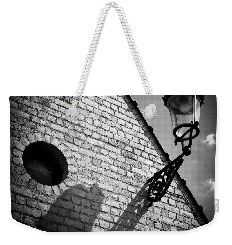 Lamp Weekender Tote Bag featuring the photograph Lamp With Shadow by Dave Bowman