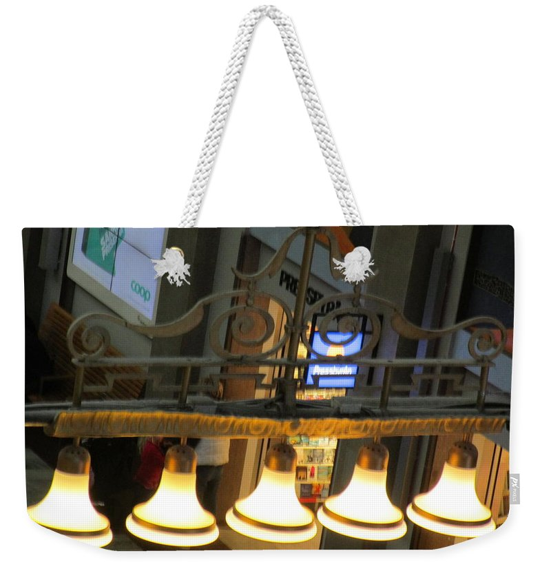 Windows Weekender Tote Bag featuring the photograph Lamps At The Big C by Rosita Larsson