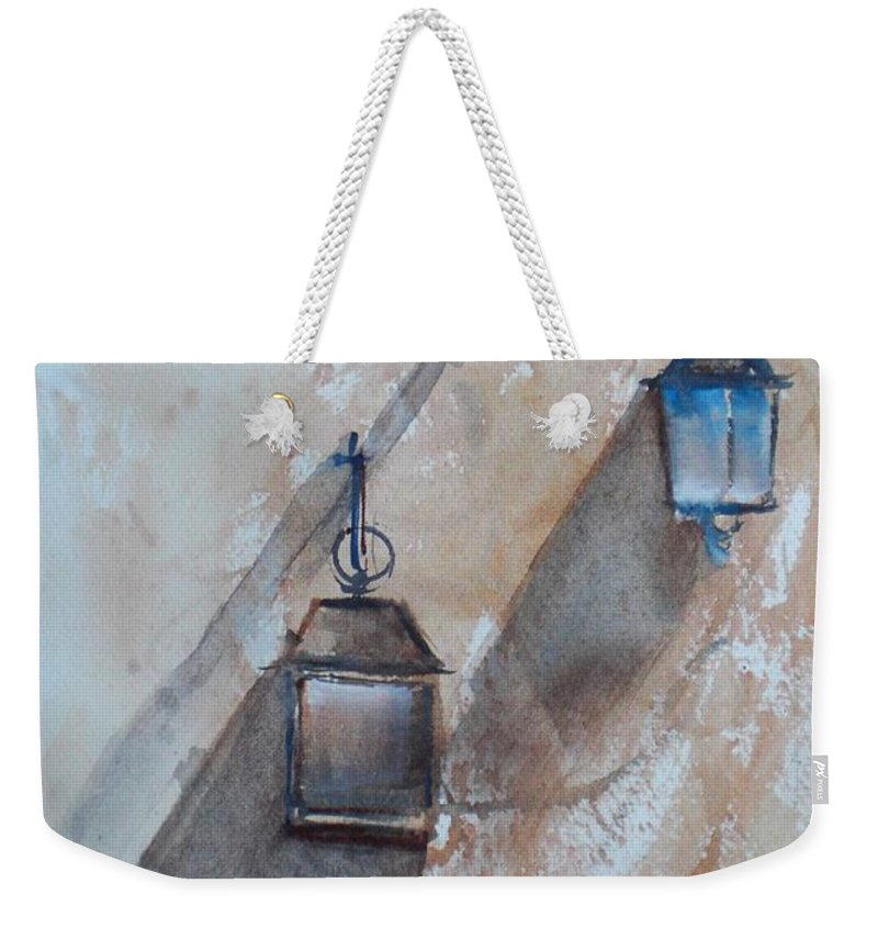 Lamps Weekender Tote Bag featuring the painting Lamps by Giorgio Gosti