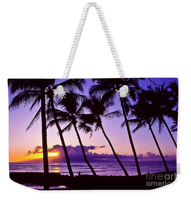Landscapes Weekender Tote Bag featuring the photograph Lanai Sunset by Jim Cazel