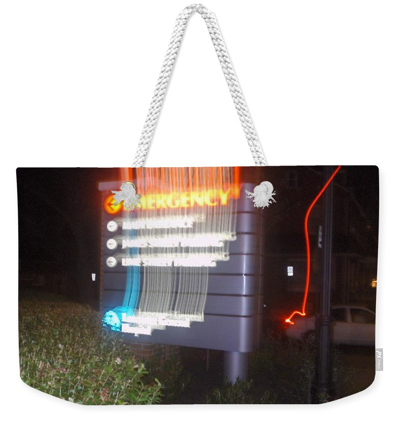 Photograph Weekender Tote Bag featuring the photograph Lancaster Genral Emergency Room by Thomas Valentine
