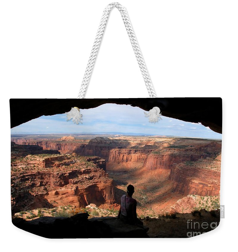 Canyon Lands National Park Utah Weekender Tote Bag featuring the photograph Land Of Canyons by David Lee Thompson