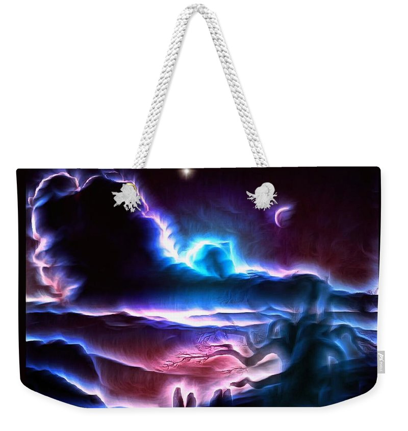 Fantasy Art Weekender Tote Bag featuring the digital art Land Of Nightmares by Mario Carini