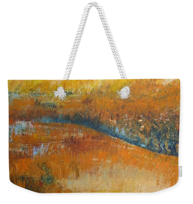 Landscape Weekender Tote Bag featuring the painting Land Of Richness by Stella Velka