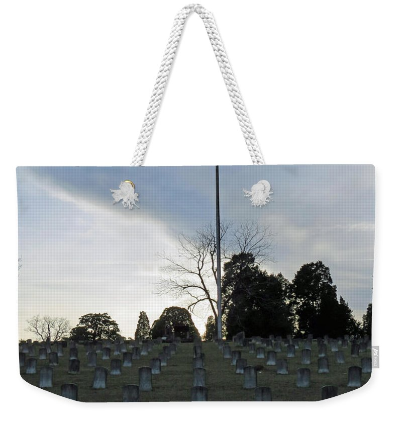 Grave Yard Weekender Tote Bag featuring the photograph Land Of Stones by Aaron Martens