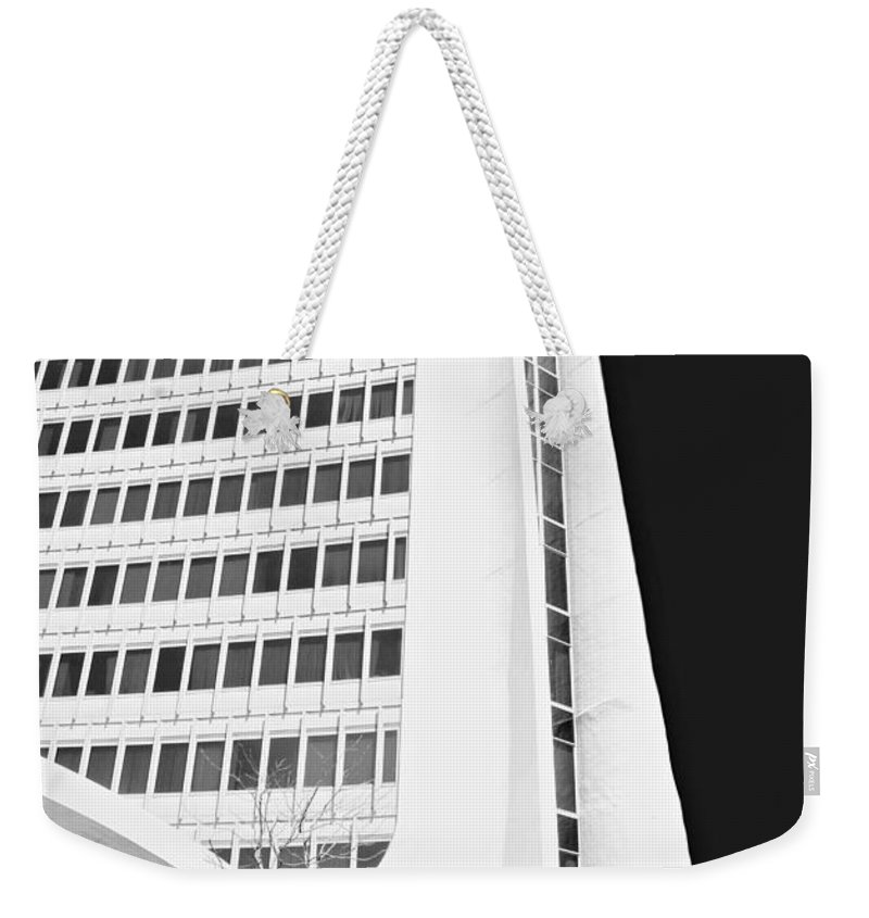 Architecture Weekender Tote Bag featuring the photograph Landmark Square Facade by Diana Angstadt