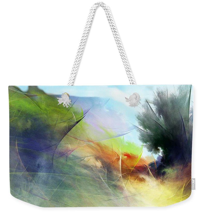 Digital Painting Weekender Tote Bag featuring the digital art Landscape 02-05-10 by David Lane