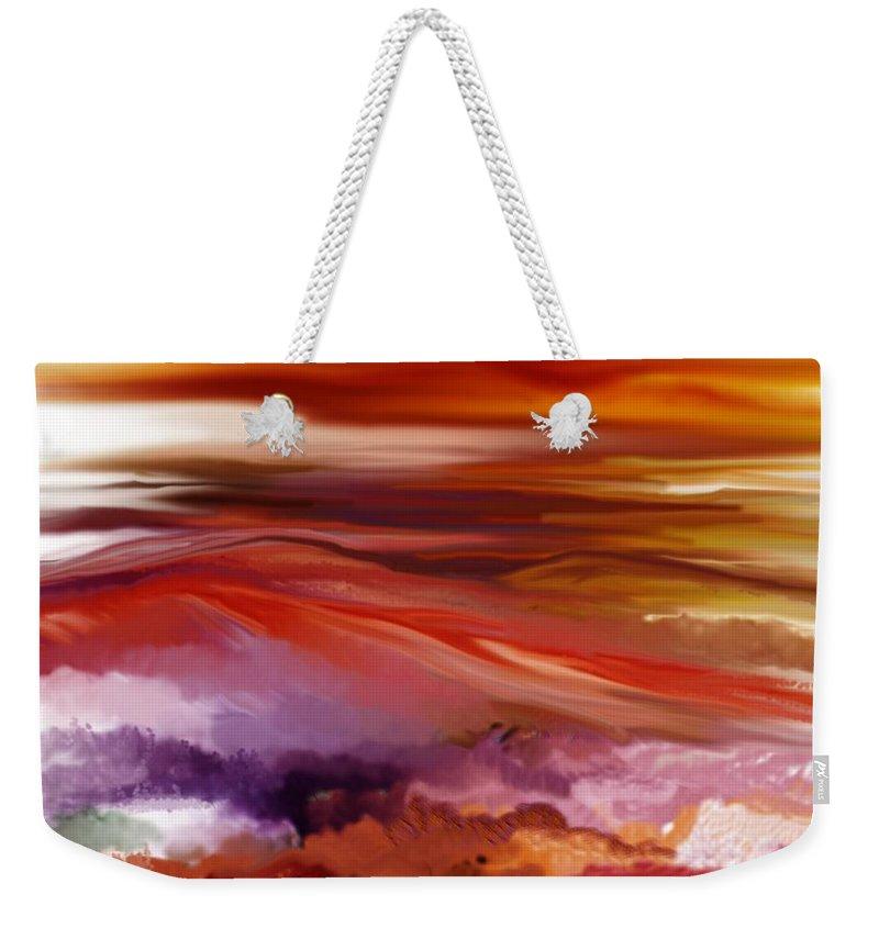 Landscape Weekender Tote Bag featuring the digital art Landscape 022511 by David Lane