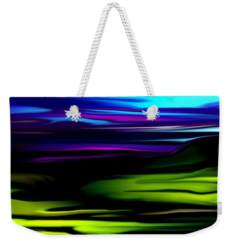 Abstract Expressionism Weekender Tote Bag featuring the digital art Landscape 8-05-09 by David Lane