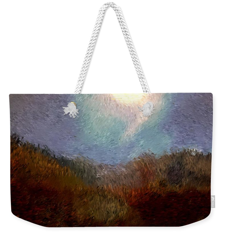 Abstract Digital Painting Weekender Tote Bag featuring the digital art Landscape 8-27-09 by David Lane