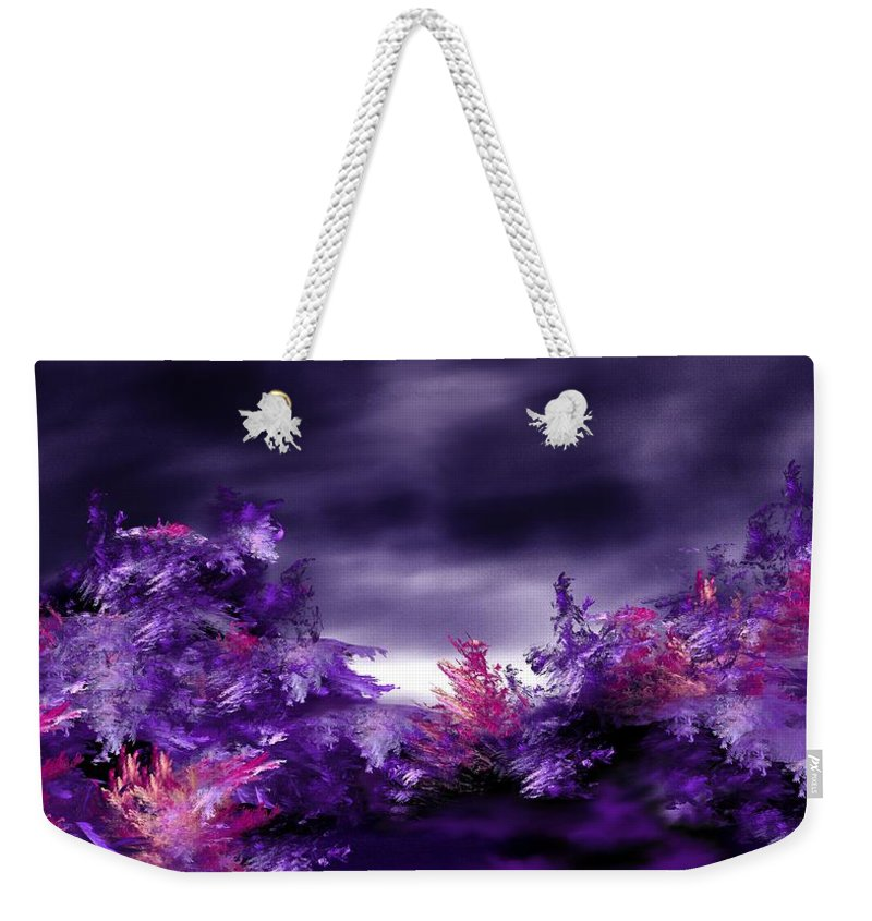 Abstract Digital Painting Weekender Tote Bag featuring the digital art Landscape 9-26-09 by David Lane